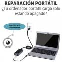 Reparación portátil carga solo estando apagado