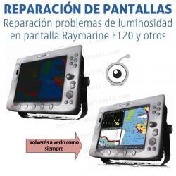 Reparación problemas de pantalla Raymarine e120