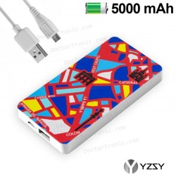 Bateria Externa Micro-Usb Power Bank 5000 MAh City Barcelona YZSY