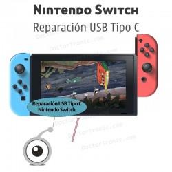 Reparación USB Tipo C nintendo switch