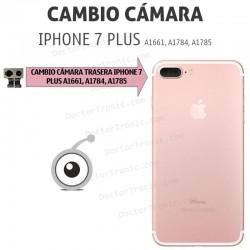 Cambio cámara trasera iPhone 7 Plus A1661, A1784, A1785