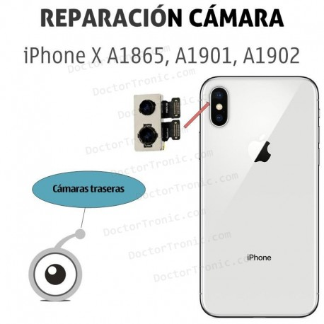 Cambio cámara trasera iPhone X A1865, A1901, A1902