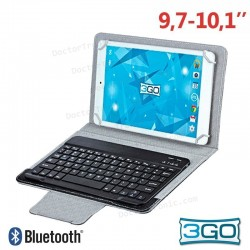 Funda Ebook Tablet 10 Pulgadas Universal 3GO Negro + Teclado Bluetooth