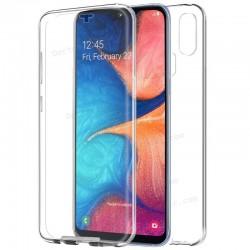 Funda Silicona 3D Samsung A202 Galaxy A20e (Transparente Frontal + Trasera) (Transparente Frontal + Trasera)