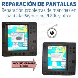 Reparación problemas de imagen Raymarine RL80C