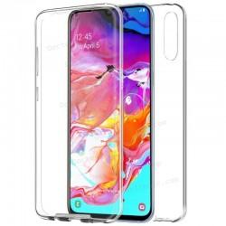 Funda Silicona 3D Samsung A705 Galaxy A70 (Transparente Frontal + Trasera)