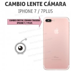 Cambio lente cámara iPhone 7/7 Plus