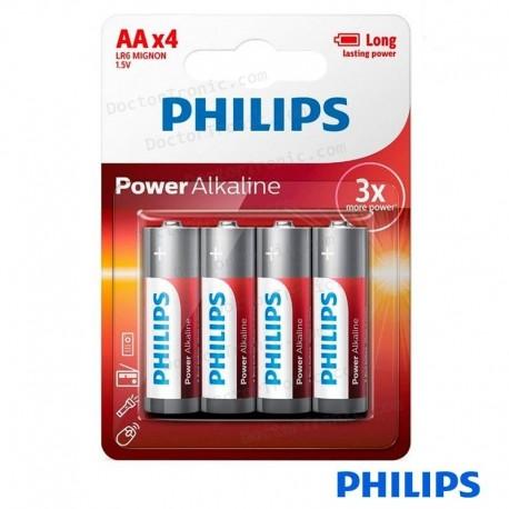 Pila alcalina AA Philips (Pack 4 Uds)