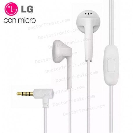 Auriculares 3,5 Mm Universal Original LG Jack 3,5 Mm