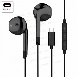Auriculares Stereo Black COOL Classic Stereo Con Micrófono (Tipo C)