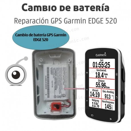 Cambio batería GPS GPS Garmin EDGE 520