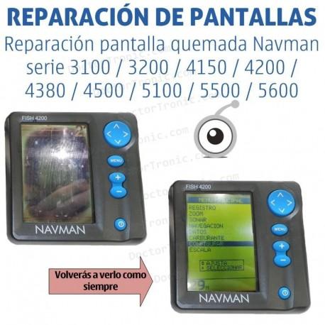 Reparación problemas de pantalla quemada Navman serie 3100 / 3200 / 4150 / 4200 / 4380 / 4500 / 5100 / 5500 / 5600
