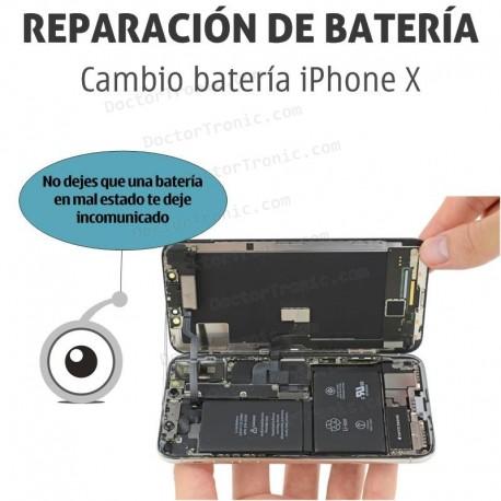 Cambio batería iPhone X