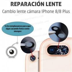 Cambio lente cámara iPhone 8/8 Plus
