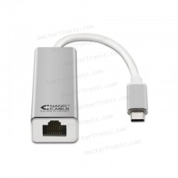 Adaptador USB C a ETHERNET 10/100/1000 MBPS - 15CM