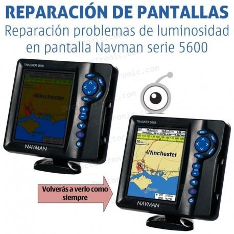 Reparación problemas de pantalla Navman serie 5600 / 5607