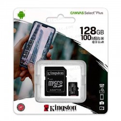 Tarjeta Memoria Micro SD + Adapt. x128GB Kingston