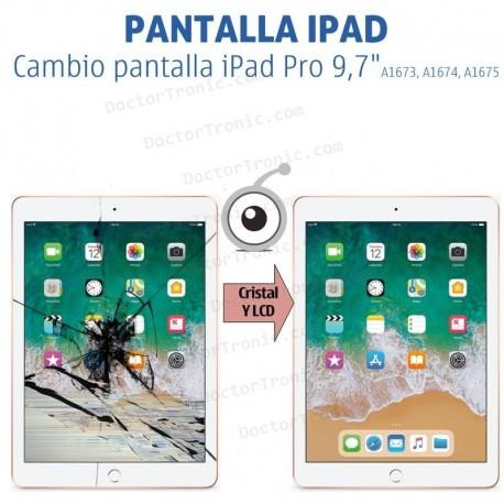 """Reparación cambio pantalla completa iPad Pro 9,7"""" A1673, A1674, A1675"""