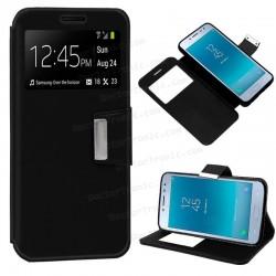 Funda Flip Cover Samsung J250 Galaxy J2 Pro (2018) Liso Negro