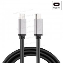 Cable USB Compatible Universal TIPO-C A TIPO-C (1 Metro) Metálico
