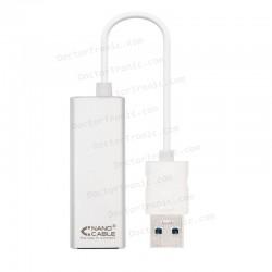ADAPTADOR USB A LAN NANOCABLE - DE USB 3.0 A ETHERNET GIGABIT 10/100/1000 MBPS - 15CM