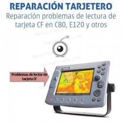 Reparación problemas de lectura de tarjeta CF en Raymarine C80, E120 y otros