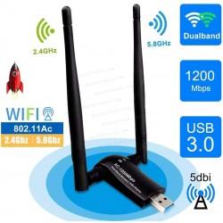 Adaptador USB WiFi 1200Mpbs Antena Adaptador WiFi USB 3.0 Inalámbrico