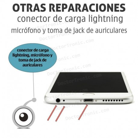 Reparación iPhone 8 / 8 Plus Conector de carga lightning