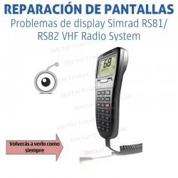 Reparación problemas de display Simrad RS81/RS82 VHF Radio System