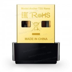 Adaptador Usb Para PC Wireless Wifi TP-LINK ARCHER TU2 NANO - 802.11A/AC/B/G/N - 2.4GHZ/5GHZ - 433MBPS/200MPBS