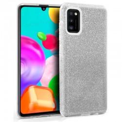 Carcasa Samsung A415 Galaxy A41 Glitter Plata