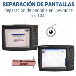 Reparación problemas de pantalla Lowrance lcx-104c