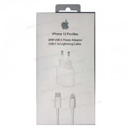 CARGADOR APPLE ORIGINAL USB-C 20W + CABLE USB-C A LIGHTNING