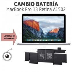 Cambio batería MacBook Pro 13 Retina A1502