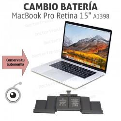 """Cambio batería MacBook Pro Retina 15"""" A1398 Año 2015"""