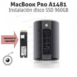 Instalación disco SSD 960GB MacBook Pro A1481