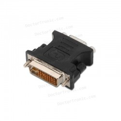 Adaptador DVI-A macho a VGA 15-pin HD hembra