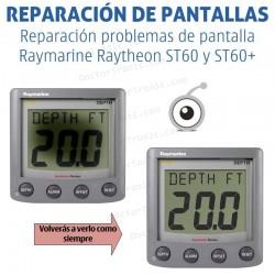Reparación problemas de imagen Raymarine Raytheon ST60 y ST60+