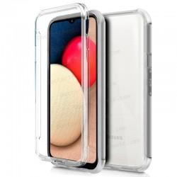 Funda Silicona 3D Samsung A025F Galaxy A02s (Transparente Frontal + Trasera)
