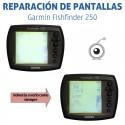 Reparación pantalla Garmin Fishfinder 250