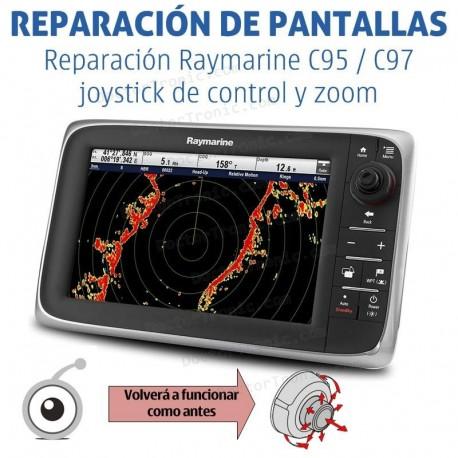 Reparación Raymarine C95 / C97 joystick de control y zoom