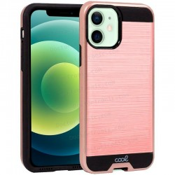 Carcasa COOL Para IPhone 12 / 12 Pro Aluminio Rosa