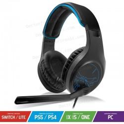 Auriculares Gaming con Micrófono Spirit of Gamer Elite-H20/ Jack 3.5/ Azules