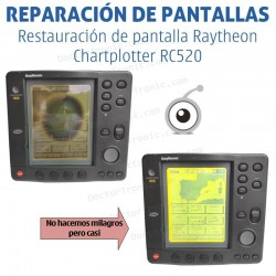 Reparación problemas de imagen Raytheon Chartplotter RC520