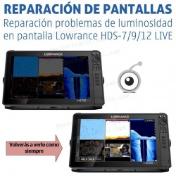 Reparación problemas luminosidad de pantalla en Lowrance HDS-7 LIVE / HDS-9 LIVE /HDS-12 LIVE