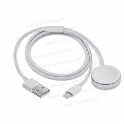 Cable USB Magnético Apple Watch + Cable Lightning iPhone / iPad (2 en 1) 1m COOL
