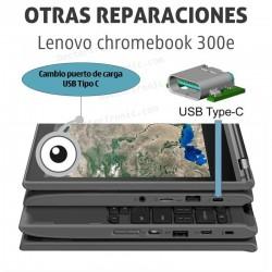 Lenovo chromebook 300e reparación de conector de alimentación USB-C