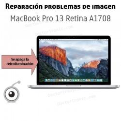Reparación problemas de retroiluminación de la pantalla del MacBook Pro A1708