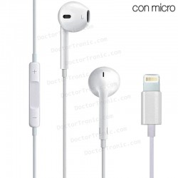 Auriculares Stereo Con Micro IPHONE 7 / 8 / X (Lightning Bluetooth)