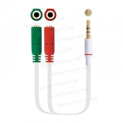 Cable salida de audio y entrada de micro, jack de 3,5mm cuatro polos